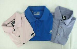 FJ-amp-Under-Armour-Golf-Polo-T-Shirt-Size-Men-039-s-MEDIUM-Lot-of-3