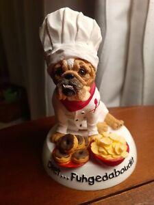 "Zelda Wisdom Bulldog ""Diet...Fuhgedaboudit"" Figurine No. 4858 Dog"