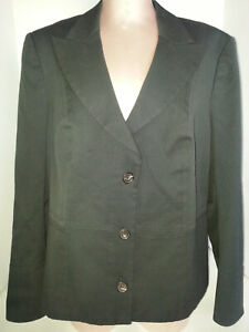 Cotton di Jacket Escada Coat da Blazer Size donna Blue 16 Blend 46 Giacca usa Twq6xZ1