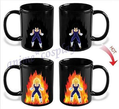 Dragon Ball Z Vegeta Color Change Heat Reactive Mug Ceramic Coffee Cup Goku New