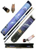Billiard Cue, Pool Stick Dolphin Graphic Brass Sports Accessories Case Wood on sale