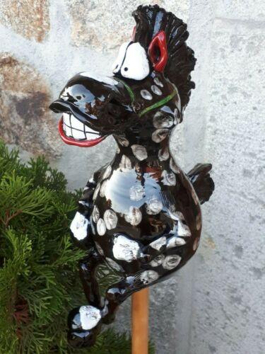 Keramik Pferd Handarbeit Tier Figur Garten Kugel Dekoration Terrasse Bauernhof