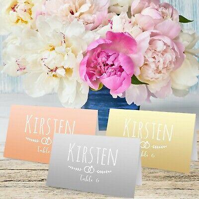 Tema Personalizzato Semplice Tabella Luogo Nome Carte Per Matrimonio, Conferenza & Party-