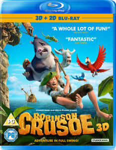 Robinson-Crusoe-Blu-Ray-2016-Vincent-Kesteloot-cert-PG-NEW-Amazing-Value