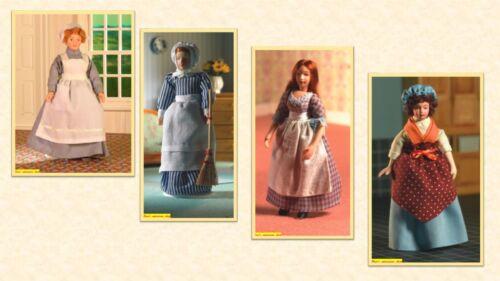 porcelain doll domestics  4  to choose. 1:12 scale dolls house miniature D.H.E