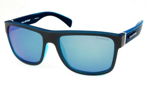 NEW Polasports Polarized Mens Sports Sunglasses 4403BD MOBSTER Blue Black