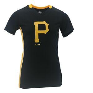Pittsburgh Pirates MLB Majestic Apparel Kids Youth Girls Size Jersey-Style Shirt