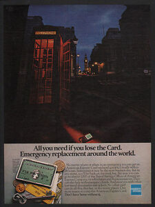 Details about 1981 AMERICAN EXPRESS Credit Card - OLD TELEPHONE BOOTH -  Phone Booth VINTAGE AD