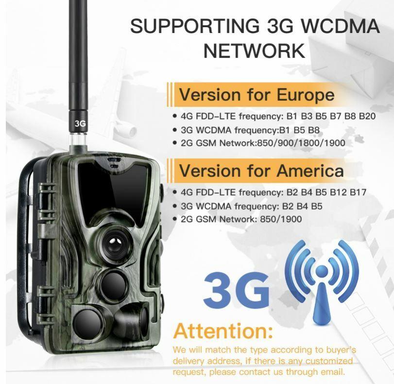 Jagdkamera 16MP HC -801G 3G Wild Camera & HC801A Hunting Camera Night Version