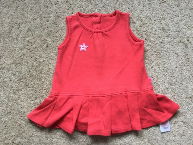 MOTHERCARE BABY GIRLS SLEEVELESS DRESS WITH ATTACHED PANTS   AGE 3-6 MONTHS