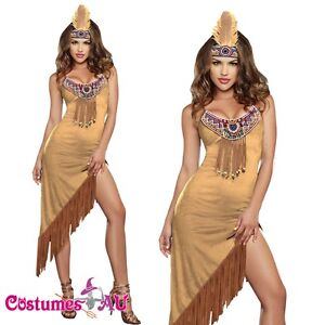 Noble Warrior Native American Indian Wild West Halloween Fancy Dress Costume