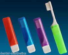 2 x Orthodontic Travel Toothbrush ~ VTrim Bristles for Braces, 2 Random Colours
