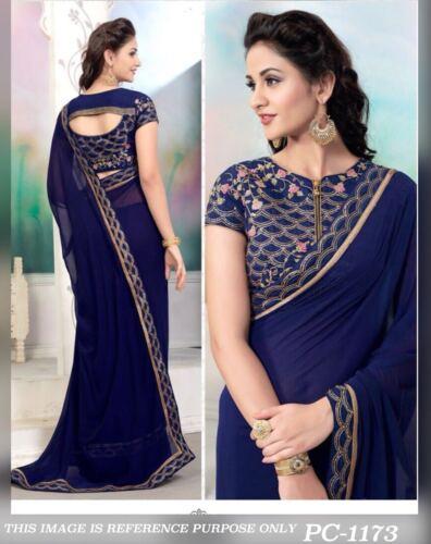 Designer Saree Pakistani Bollywood Indian Sari traditional FASHION ethnic COLOR