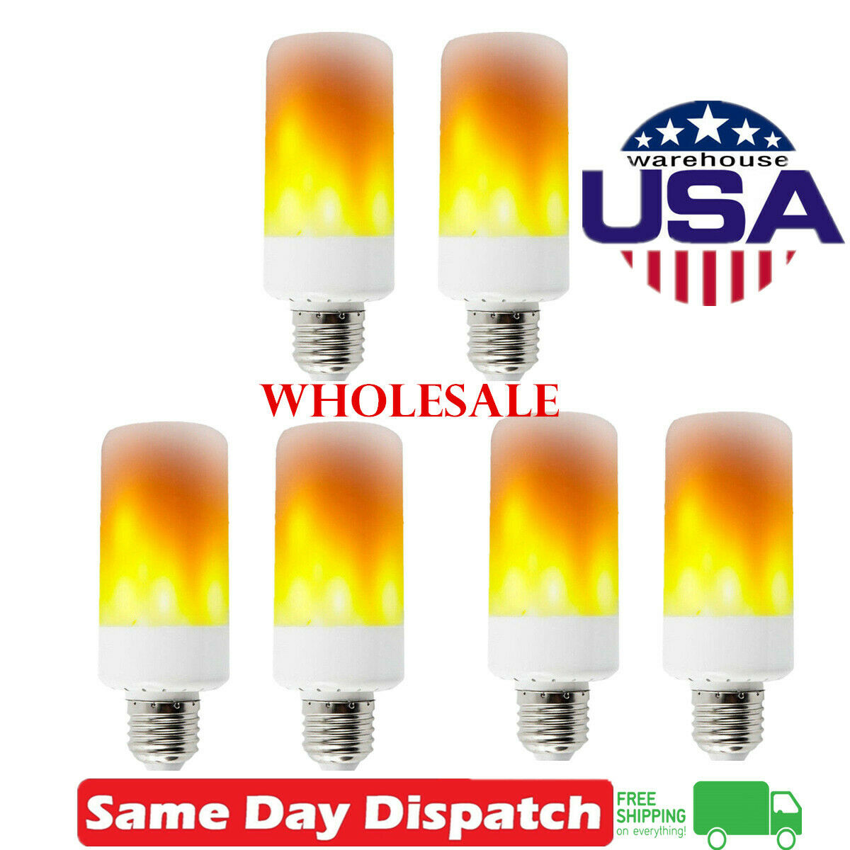 YANGMAN-L E14 LED Candelabra Bulb 9W,Flickering Colorful Flame Light Bulbs E14 Base Flame Effect Light Bulbs for Halloween Hotel Bar Party Decoration,6 Pack