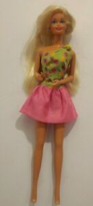 Vintage Barbie Doll 1976/1966 Mattel Long Blonde Hair Barbie Tag Outfit