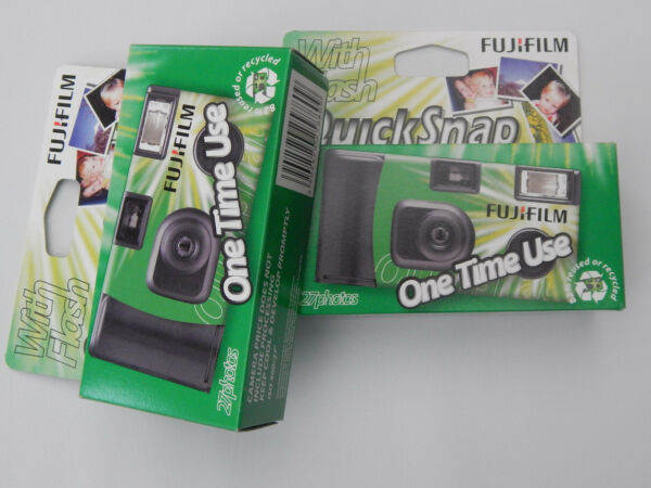 Amical Fujifilm Quick Snap 35 Mm One Time Use Caméra X 2 Dessins Attrayants;