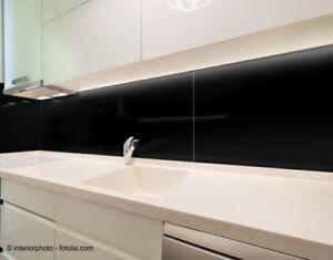 120x50cm-Glas-schwarz-Echtglas-Kuechenrueckwand-Spritzschutz-Herd-Fliesenspiegel-G