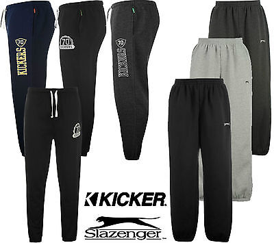 Mens Branded Everlast,Slazenger,Kicker SportsTracksuit Bottoms Flecce Sweatpants