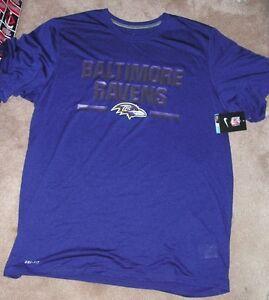 bdc767ce NEW NIKE NFL Baltimore Ravens Chisled T Shirt Men XL X-Large Dri Fit ...