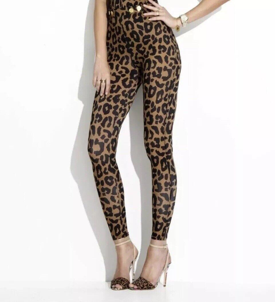 Charlie par MZ Femme Größe Haute Pantalon Skinny ASO Beyonce Imprimé Léopard sz Large