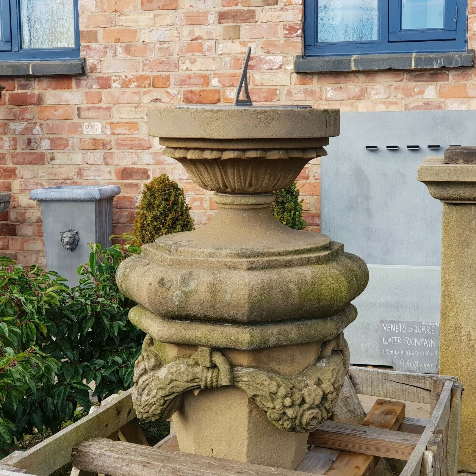 Hand Carved Stone Sundial