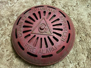 Old-Cast-Iron-Grinnell-Automatic-Sprinkler-Fire-Alarm-Bell-heavy