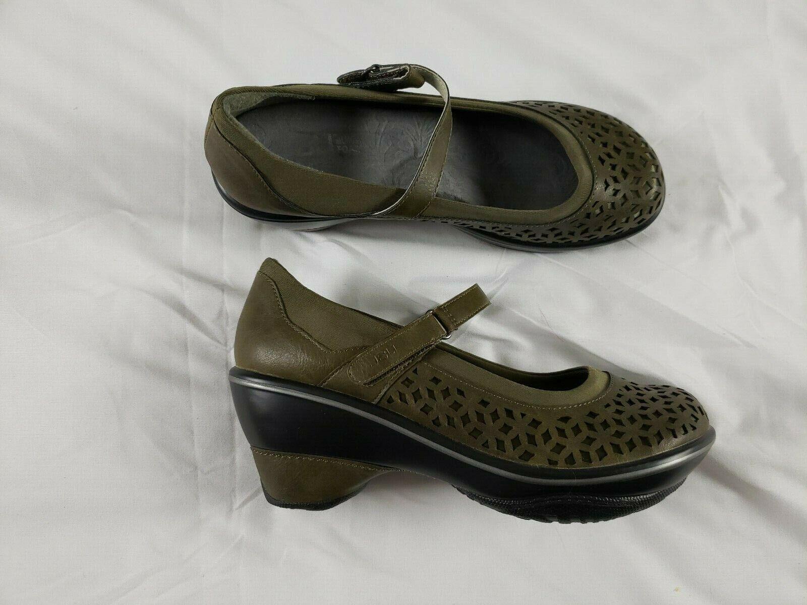 JBU by Jambu Women's Alicante Wedge Pumps shoes Size 7.5 Brown