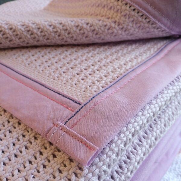 100% Coton Biologique Cellulaire Baby Blanket. Env.. 75x100 Cm. Légères Secondes.