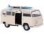 1-34-Welly-COCHE-MODELO-034-VW-Autobus-T2-Modelo-Tabla-De-Surf-034-metal-de-color-beige-5-anos miniatura 1