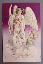 JOYEUX NOEL MERRY CHRISTMAS. ANGE ANGEL CARTE POSTALE ANCIENNE.