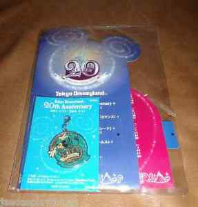 Tokyo-Disneyland-Lanyard-Charm-20th-Anniversary-MICKEY-FREE-US-Shipping