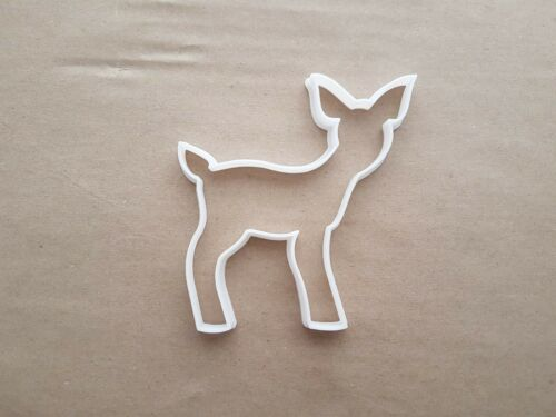 Baby Deer Faun Elk Moose Shape Cookie Cutter Dough Biscuit Pastry Fondant Sharp