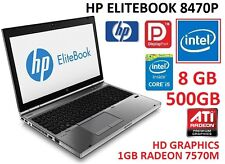 "HP ELITEBOOK 8470P CORE i5 3RD GEN I 8GB RAM I 500GB HDD I 1GB GRAPHIC14"" SCREEN"