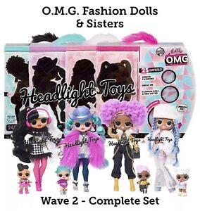 4-LOL-Surprise-Wave-2-OMG-Fashion-Dolls-Cosmic-Nova-DJ-Snowlicious-Dollie-Disco