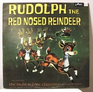 Rare-Vinyl-LP-Album-Rudolph-the-Red-Nosed-Reindeer-Christmas-Songs-and-Poem