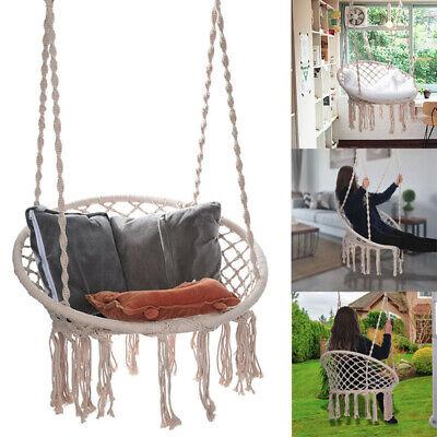 Hammock Chair Macrame Swing Handmade Swing Chair Prefect Indoor//Outdoor Play US