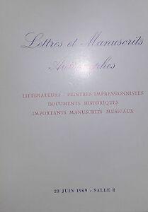 1969-Catalogue-de-Vente-Drouot-LETTRES-MANUSCRITS-AUTOGRAPHES