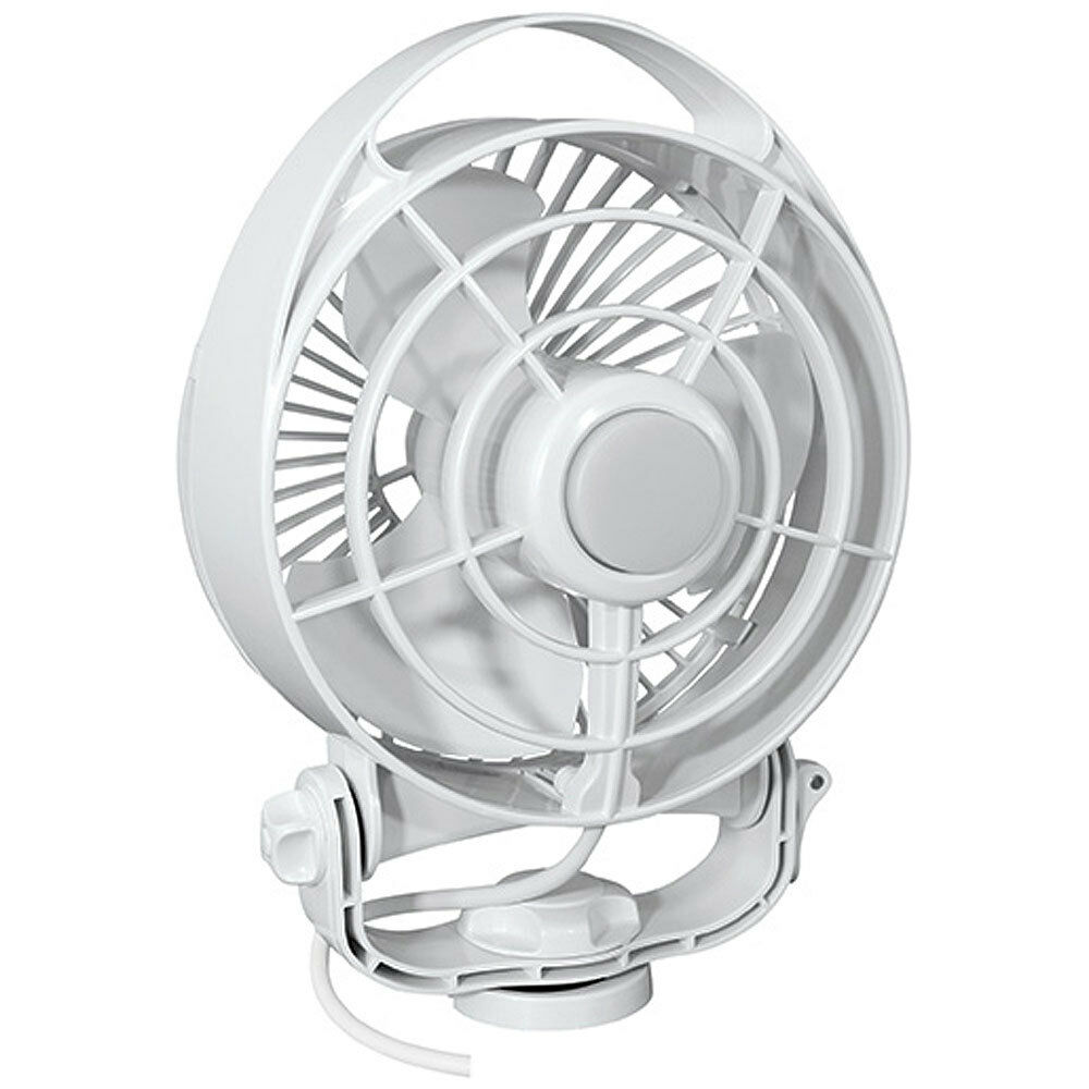 Caframo Maestro 12V 3-Speed 6   Marine Fan w LED Light - White
