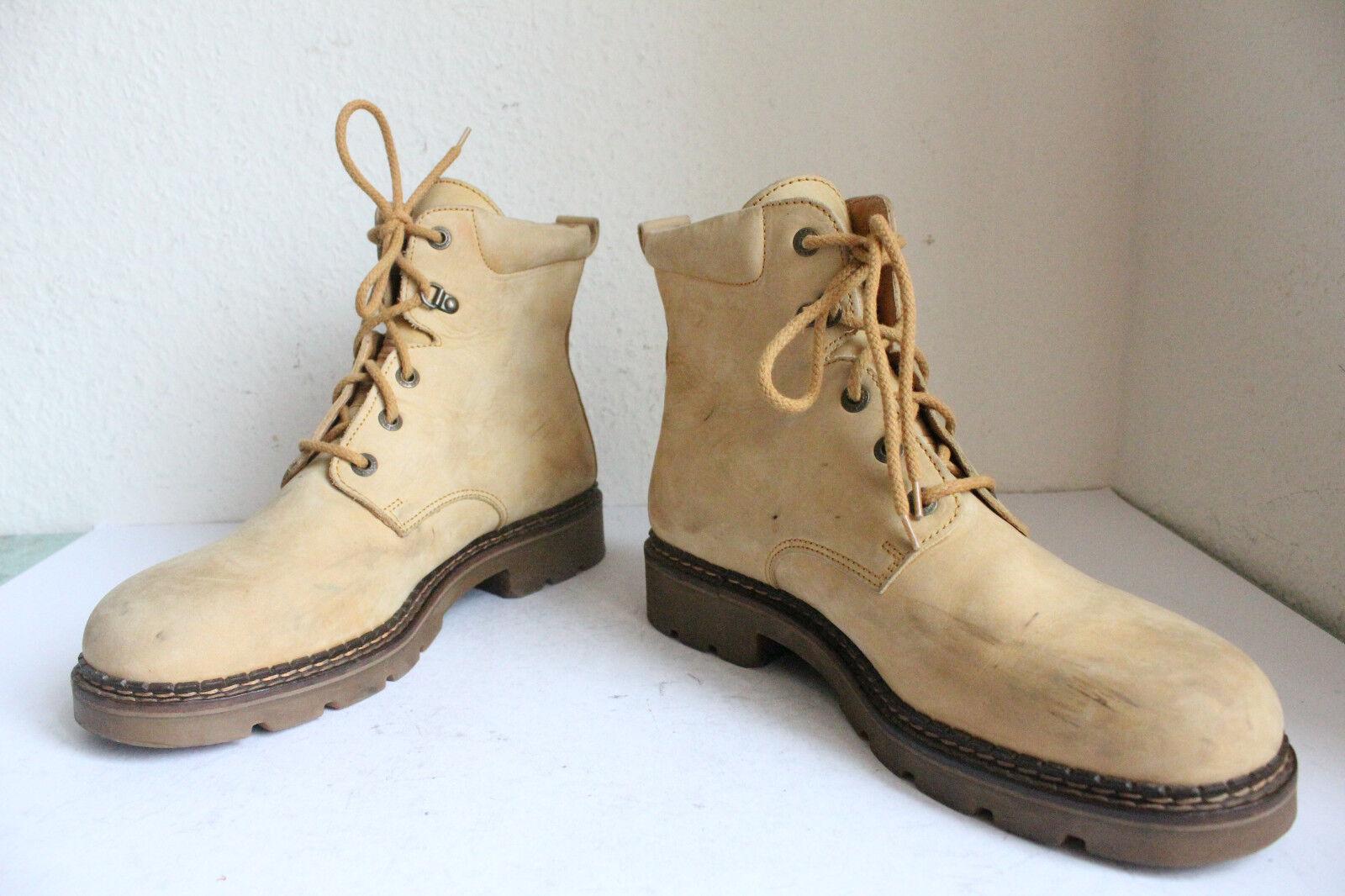 Camel Boots Elegante Schnürstiefeletten Echtleder Gelbbraun Eu:46,5-47