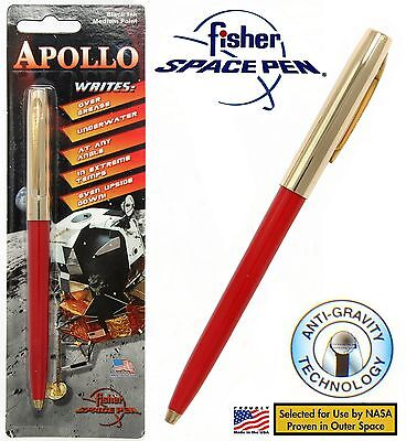 Fisher Space Pen #S251G-Red Apollo Series Pen in Red & Gold