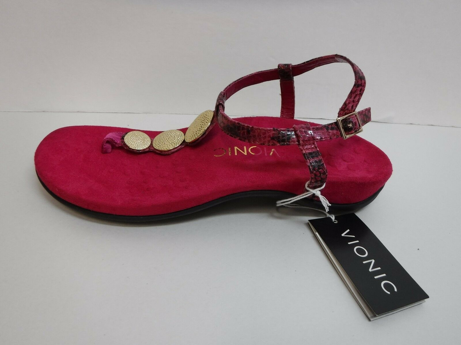 Vionic Dimensione 6 6 6 Raspberry  Sandals New donna scarpe ea82e9