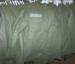 M1951-WOOL-SHIRT-OD-GREEN-U-S-ISSUE-NICE