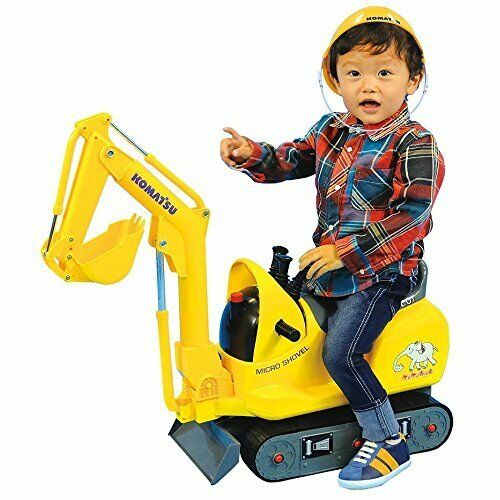KOMATSU Micro shovel for kids Riding toy with Helmet PC01 Japan Japan new .