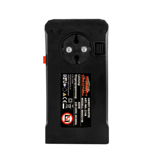 MAUK Handy Smartphone Heater 400W 220-240V Mini Heizung Heizstrahler Heizgebläse