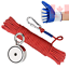 Fishing-Magnet-Double-Side-Magnet-with-66ft-Rope-amp-Glove-760LB-Pulling-Force thumbnail 4