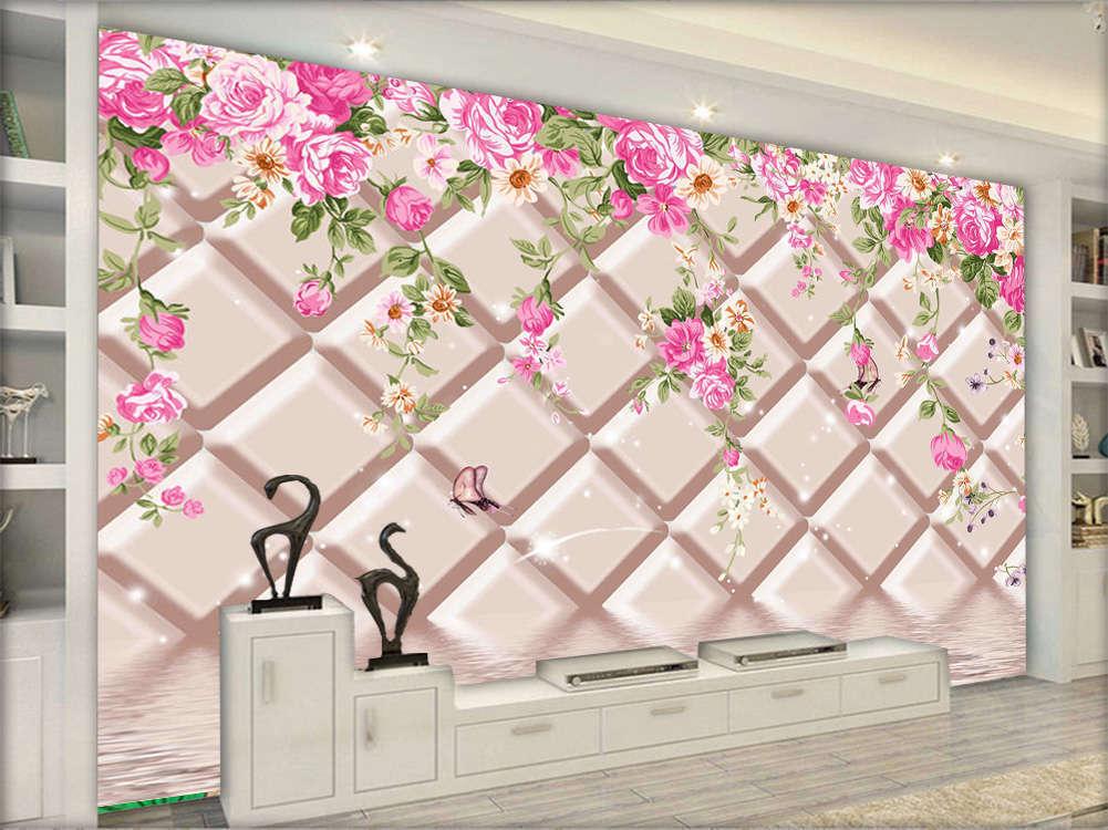 Fragrant Focal Plum 3D Full Wall Mural Photo Wallpaper Printing Home Kids Decor