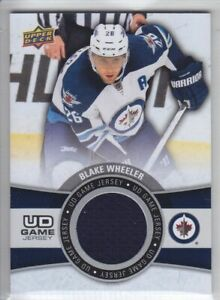 2015-16-UD-SERIES-BLAKE-WHEELER-GAME-JERSEY-USED-GJ-BW-Upper-Deck-Jets