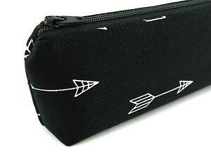 a9959defe La foto se está cargando Flechas-blanco-sobre-negro -estuche-lapiz-bolsa-estuche-