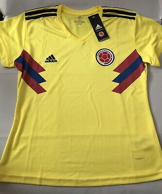 half off 928f1 72acf Adidas Colombia National Soccer Team Jersey Women's XL Yellow   eBay