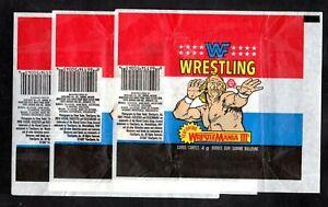 1987OPC-Lot-50-Wresling-Wrappers-039-wF-039-wRESTLAMANIA-111-hULK-Hogan